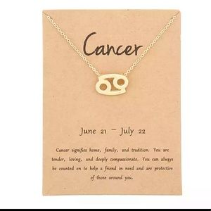 Jewelry - DAINTY 'CANCER' ZODIAC SIGN NECKLACE